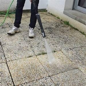 refixer les dalles d39une terrasse With nettoyage terrasse dalles gravillonnees