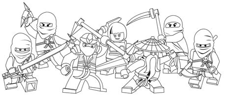 30 Free Printable Lego Ninjago Coloring Pages