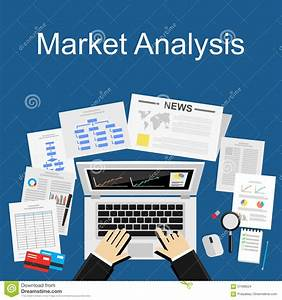 Flat Design Illustration Concept For Market Analysis ...