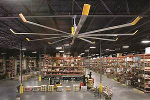 Warehouse ceiling fans from big ass fans can save you up for Big fans for warehouse