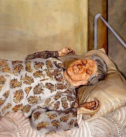 Freud Lucian Mother Painter Resting Portraits Artists