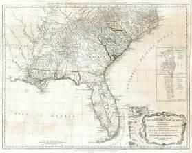 North and South Carolina Colony Map