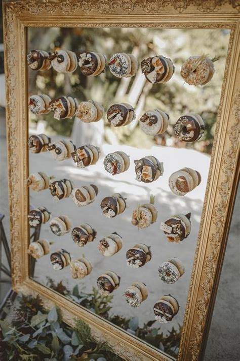 top  wedding donut wall ideas   reception