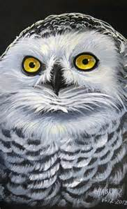 Snowy Owl Painting