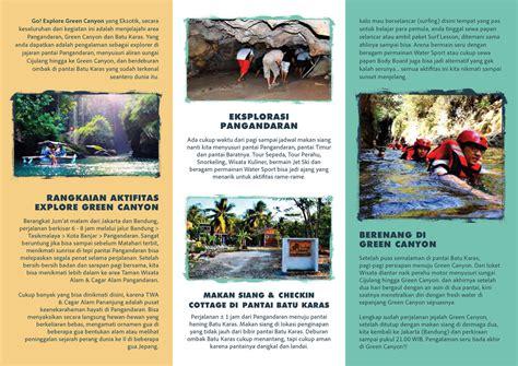 contoh brosur wisata pangandaran tempat wisata indonesia
