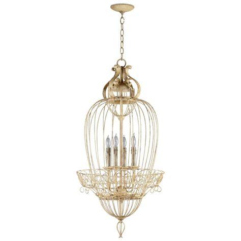 bird chandeliers vintage foyer antique white bird cage 4 light chandelier kathy kuo home