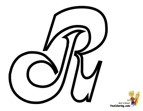 Coloring Letter R by Cursive Letter Coloring Page Free Letter