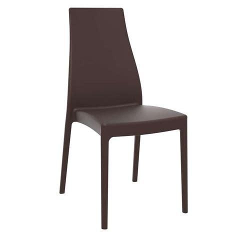 chaise en polypropylène chaise de jardin en polypropylène miranda 4 pieds