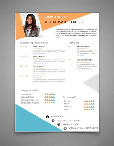 Cv Word Gratuit 2016 by Modele Cv 2016 Gratuit Word Pr 233 Sentation Cv Word Moto Bip