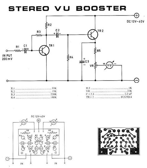Stereo Booster Circuit Schematic