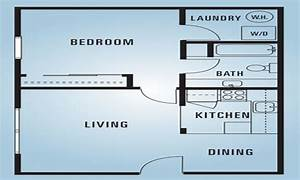 600 square feet apartment floor plan 2 bedroom 600 square for 600 sq ft apartment floor plan