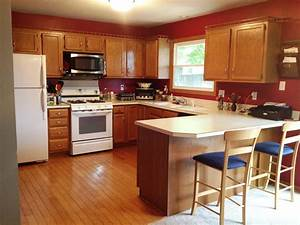 red kitchen walls layout ideas for small kitchens with With best brand of paint for kitchen cabinets with tiny wall art