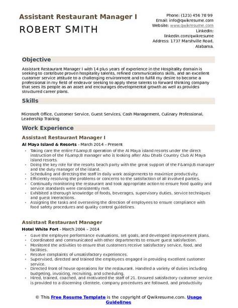 Hospitality Sle Resume by Hospitality Resume Sles Exles And Tips