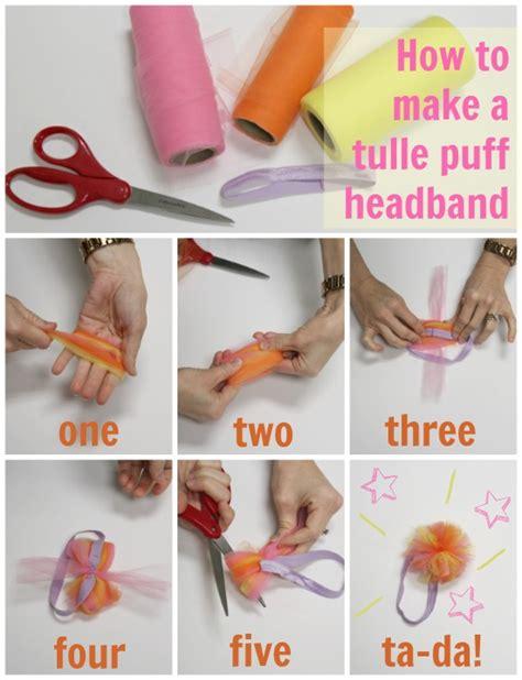 how to make baby hair diy tulle puff headband tulle knot headband the hair