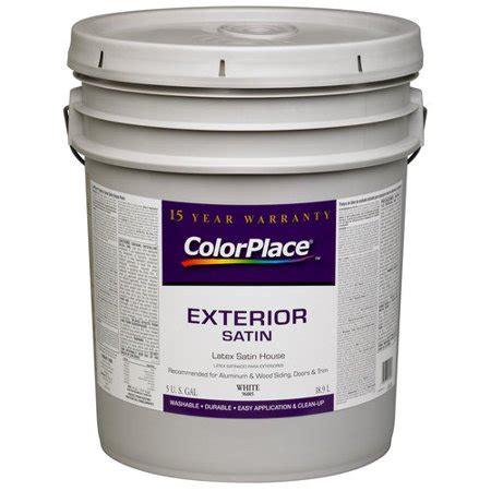 Colorplace Exterior Satin Paint, White Walmartcom