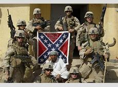 People of Color Under Confederate Battle Flag Colors