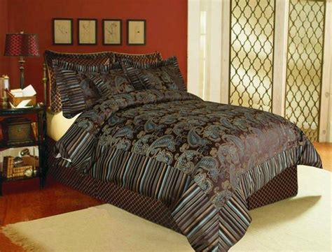 tache  piece eastern spring paisley chenille comforter