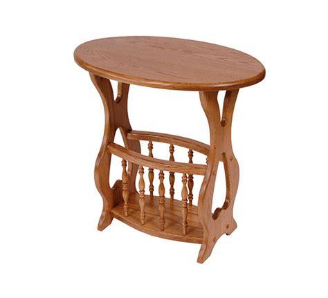 magazine rack table four seasons furnishings amish made furniture solid oak