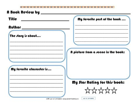 levels   printable book reports  kid lit