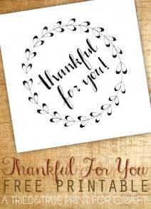 thankful for you printable c r a f t