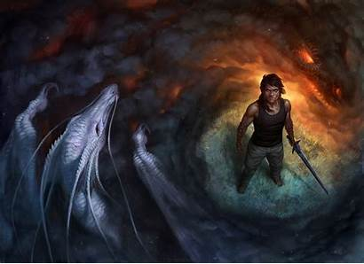 Sorcerer Dragon Smoke Sword Fantasy Deviantart Wallpapers