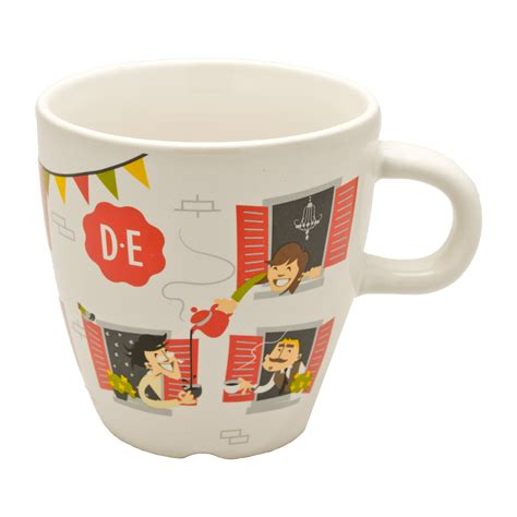Douwe egberts coffee are not just kitchen essentials but also trendy and fancy products that everyone wants to buy for their cupboards. Douwe Egberts Cup Neighbours, Porcelain Mug, Coffee Mug, 280 ml at About-Tea.de Shop