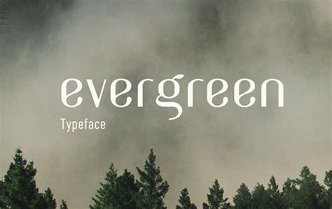 evergreen typeface befontscom