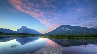 Lake Dock Reflection Wallpapers Landscape Earth