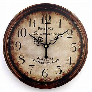 Vintage large decorative wall clock home decor fashion