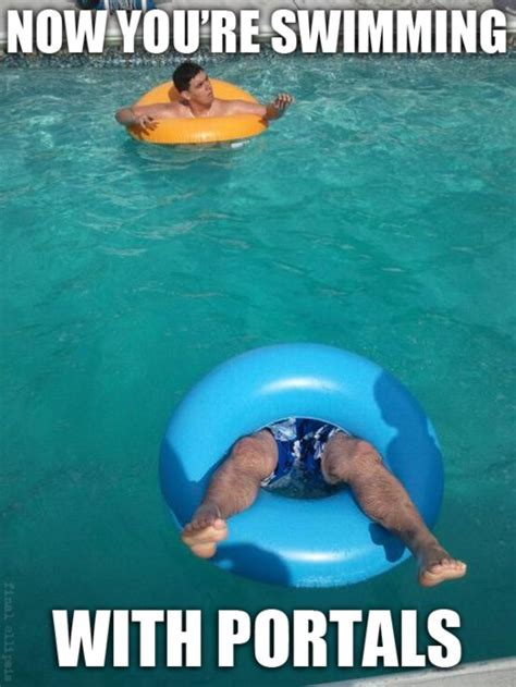 Swimming Memes Funny - irti funny picture 859 tags now swimming dealing portals portal2
