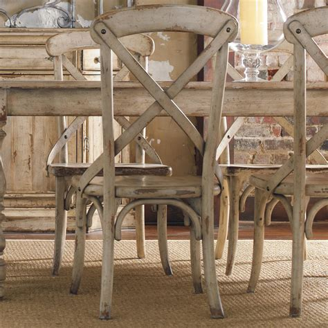 furniture wakefield x back distressed white dining