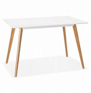 Petite Table Bureau : petite table design marius blanche style scandinave 120x80 cm ~ Teatrodelosmanantiales.com Idées de Décoration