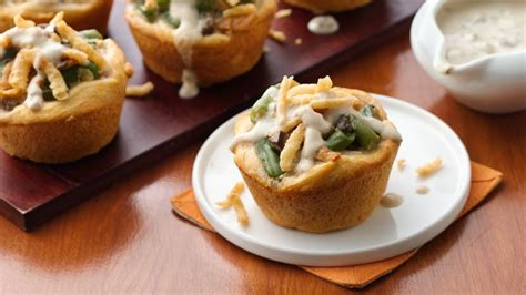 grands green bean casserole minis recipe bettycrockercom