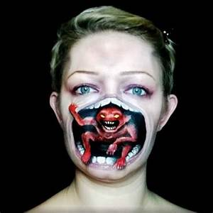 monster coming out of your mouth halloween makeup ...