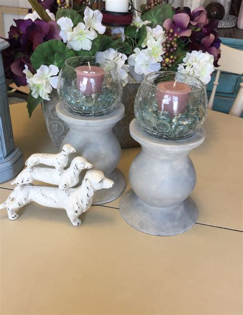 shabby chic candle shabby chic vintage candle holders ooak candle holders