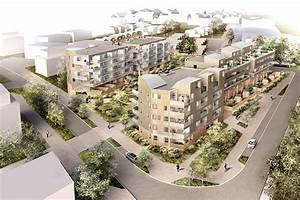 109 logements zac la jaguere reze 44 dlw architectes With logement etudiant nantes reze