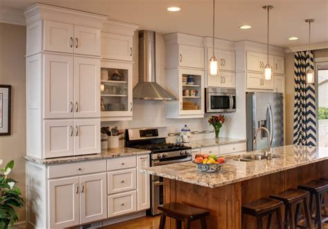 Traditional White / Linen Kitchen Great Room Remodel