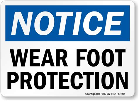 wear foot protection sign sku   mysafetysigncom