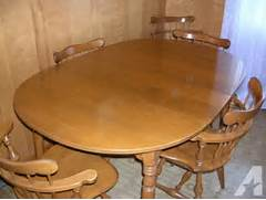 Ethan Allen Dining Room Sets by Ethan Allen Solid Maple Dining Room Table And Six Chairs For Sale In Bluff Ci