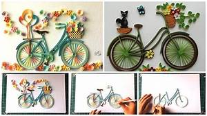 How to make quilling bicycle with flowers - Simple Craft Ideas