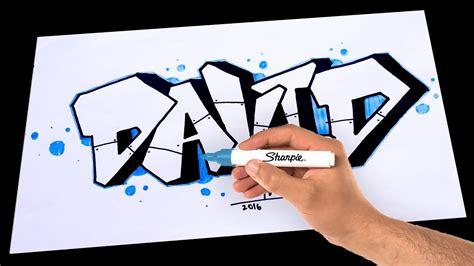 draw graffiti  david drawing  paper