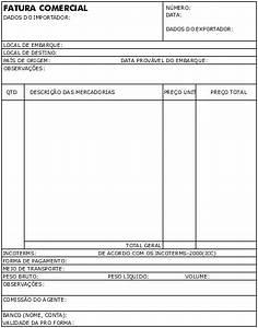 modelo fatura proforma ou pro forma invoice como With exemplo de invoice