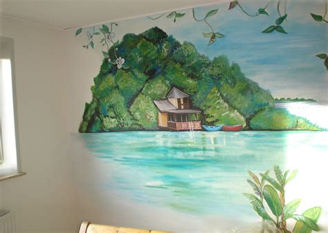 mural mural on the wall maggie murals tropical shore wall mural