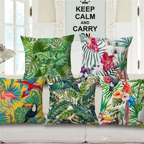 styles hibiscus flower cushion covers tropical plants