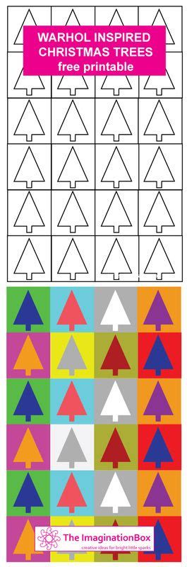Coloring Xms Gift Wrap by Trees Warhol Inspired Free Printable Make Your