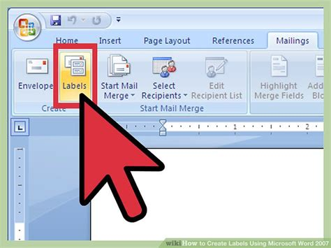 Labels With Ms Word How To Create Labels Using Microsoft Word 2007 13 Steps
