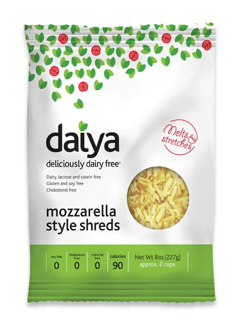 non dairy cheese quot meltable stretchy quot daiya mozzarella low protein cheese shreds 1 8oz bag