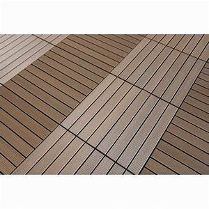 Lame Pvc Clipsable Brico Depot : dalle en composite brun 70 x 70 dalle de terrasse ~ Dailycaller-alerts.com Idées de Décoration