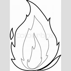 Flame Icon Outline Illustration Of   Stock Vector Colourbox