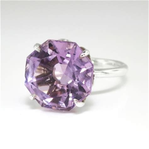 estate tiffany  octagon natural purple amethyst